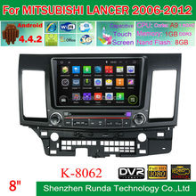 8 Inch Wifi 3G Android 4.4 Car Stereo for MITSUBISHI LANCER 2006-2012 GPS Navigation BT OBD, Trade Assurance Supplier