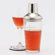 Wholesale high grade unique cocktail shaker with custom logo , mini cocktail shaker bottle for wine