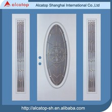 ALS-04 high quality main doors with glass insert