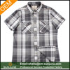 OEM manufacturer high quality mens button down collar check shirts