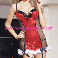 Sexy Fancy wholesale christmas dress Lingerie Sexy Women Costume Free shipping
