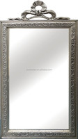 Beautiful large resin baroque wood mirror frame with crown