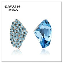 18K gold plated fashion latest crystal new design earring for women jewelry 2015