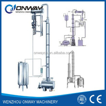 JH high efficient factory price high purity 95% (V/V) alcohol ethanol methanol distiller