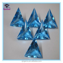 Stunning Trillion Cut 10*10mm Topaz Blue Glass Gemstone