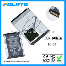 low price wholesales for nokia BL-5B 3.7v li-ion battery replacement