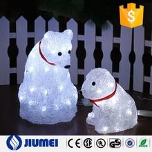 Garden Decoration Acrylic Cover 3D LED Christmas Bear Light