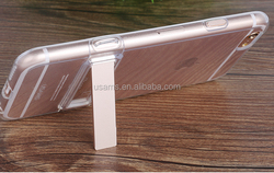 new clear tpu metal stand case for iPhone 6S