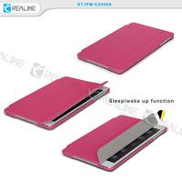 Three fold leather smart case cover for ipad mini 4 free samples