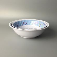 round wavy ripple 2 pcs melamine cake plastic mixing bowl sets