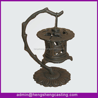 antique decorative cast iron garden hollow-out lantern