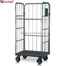 custom made wire cage supermarket roll trolley