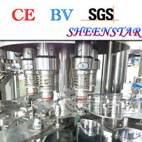 sus304 automatic carbonated soft drinks filling machine