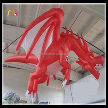 Hot popular inflatable giant flying red dragon model for advertising to sale