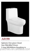 bathroom one piece toilet ,siphonic toilet