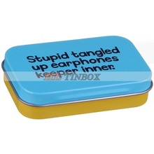 Rectangle Metal Earphone Tin Box Packing