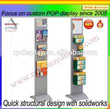 Custom cell phone accessories display stand, metal floor standing for supemarket