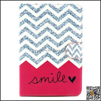 new pattern cartoon PU leather cover for ipad mini