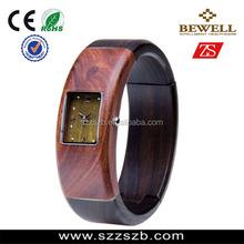 Natural wood watch with Japan quartz, fanshion bracelet wood watch with box