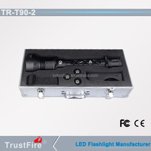 TrustFire T90-2 2500lm flexible police searchlight powerful flashlights for hunting+battery+charger+aluminum gift box