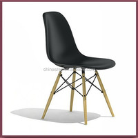 ABS material with wood leg dining chair furniture