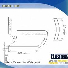 Permanent Sintered Rare Earth Neodymium Arc Segment Magnets For Dc Motor Generator