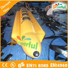Hot in summer inflatable banana boat,inflatable water toys for sale