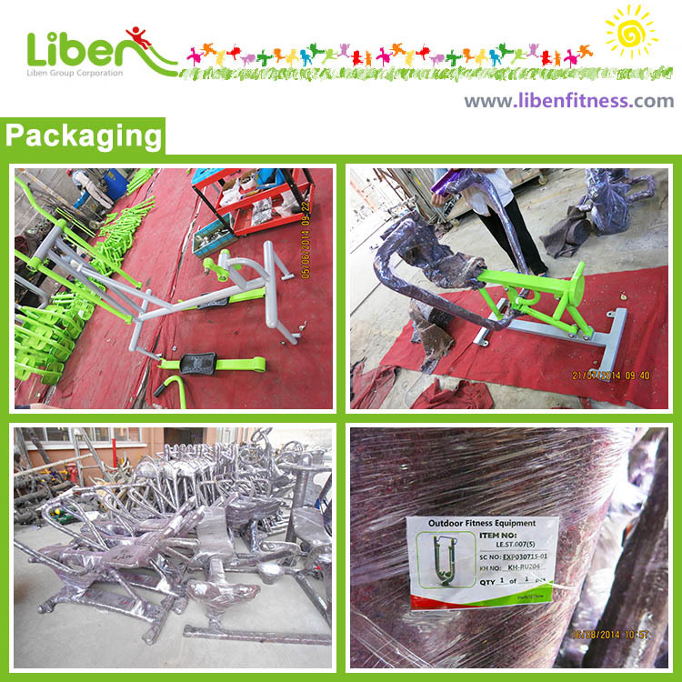 outdoor exercise equipment packing workshop