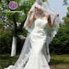 WJBV10 2015 Wedding Accessories One-layer White Long Lace Trim Wedding Veil
