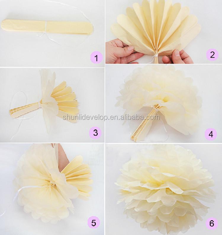 Christmas Tree Decorations Tissue Paper Pom Poms Flower Balls Buy Best Tissue Paper Flower Ball Decorations