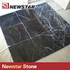 Newstar black marquina marle flooring Chinese marble tiles