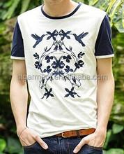Custom organic cotton t-shirt wholesale organic tshirt mens embroidery t-shirts