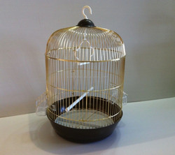 New Bird Cage Round Medium Metal Finch Canary Parakeet Yellow Pink Red Blue