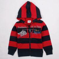 A3028# NR 18M/6Y baby boy stripe child clothes long sleeve hoodie boys zipper coat children's boutique clothing wholesale