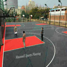 outdoor interlocking basketball court flooring/ Flooring/baskerball floor Outdoor/PP interlocking basketball flooring