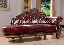 2015 antique chaise lounge /red leather sofa/ red leather sofa italian G-071#