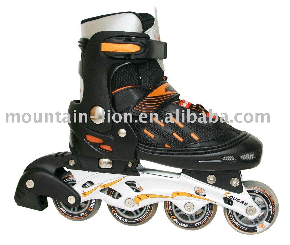 En71 en13843 okafin ms833lg noir./orange, patins à roues alignées