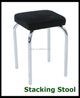 Square shape Cheap used metal PU stacking small sitting stool for sale KP-S031B