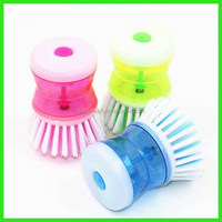 functional detergent holding kitchen pressure liquid soap dish washing brush