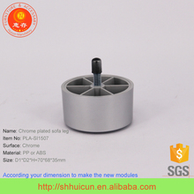Round Type Chromed Siliver Plastic Feet for Metal Chairs