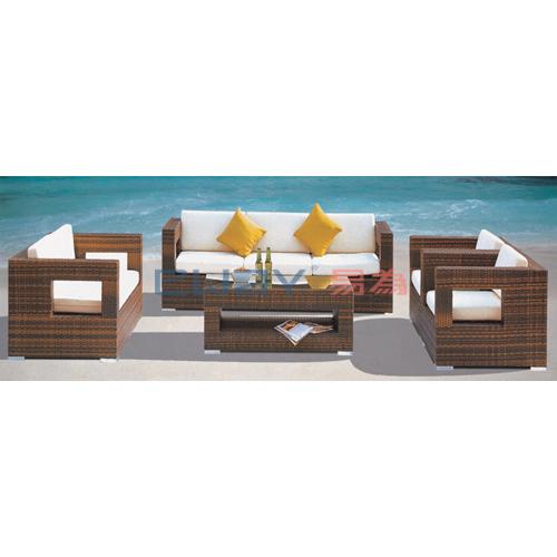 Comfortable Patio Rattan Sofa Set Home Furniture