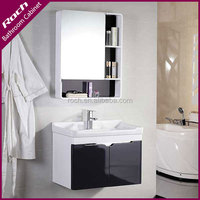 ROCH 8018 Sell Fast PVC Bathroom Vanity Combo With Storage Side Cabinet