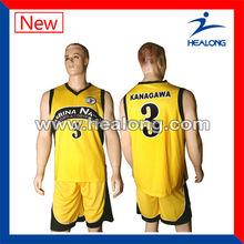 hot yellow new design basketball uniforms high school basketball uniforms