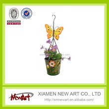 Wall Decoration Metal Pot Metal Hanging Butterfly flower pot hindu god wall decor wall hanging