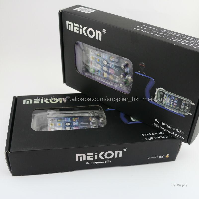 Meikon Imperméable Housses de Protection pour Iphone 5/5s avec Support
