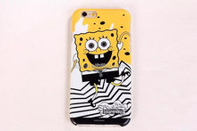Lastest Spongebob soft silicone cover back skin case for iPhone 6