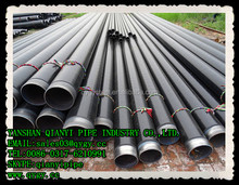 Double wall thickness hot rolling seamless carbon steel Pipe with 3LPE painting coated