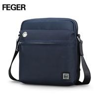 Feger men's oxford Shoulder briefcase bag for ipad mini branded men sling bag