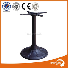 custom wrought iron metal glass round bistro table bases