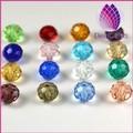 de haute qualité 18mm rondelle de cristal perles de verre couleur mélangée échantillon gratuit